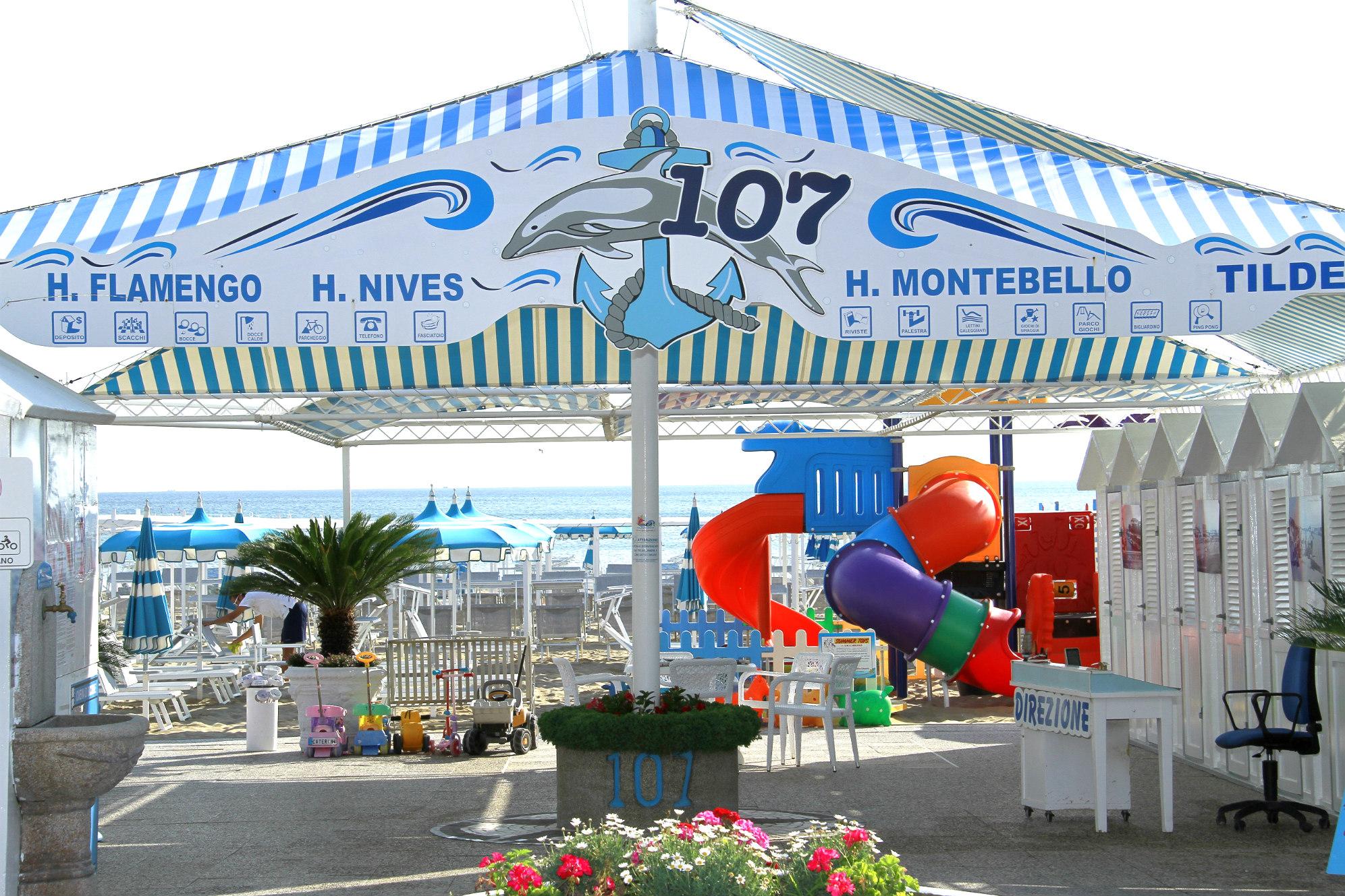 spiaggia 107 riccione